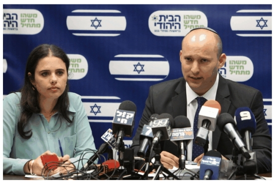 Ayelet Shaked with her Jewish Home Party leader Naftali Bennett