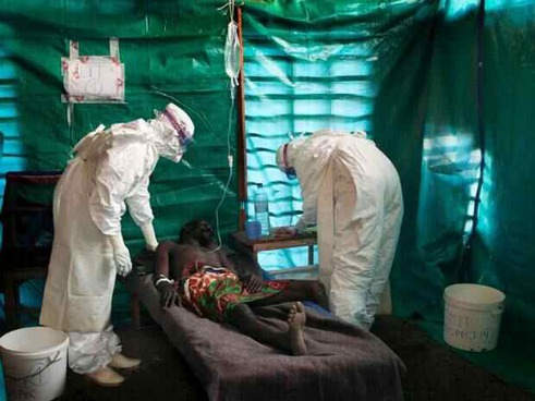 Ebola patient in West Africa
