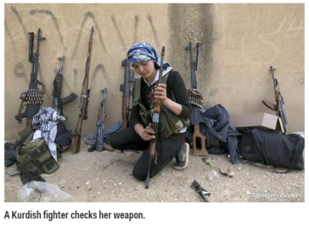 Kurdish female fighter