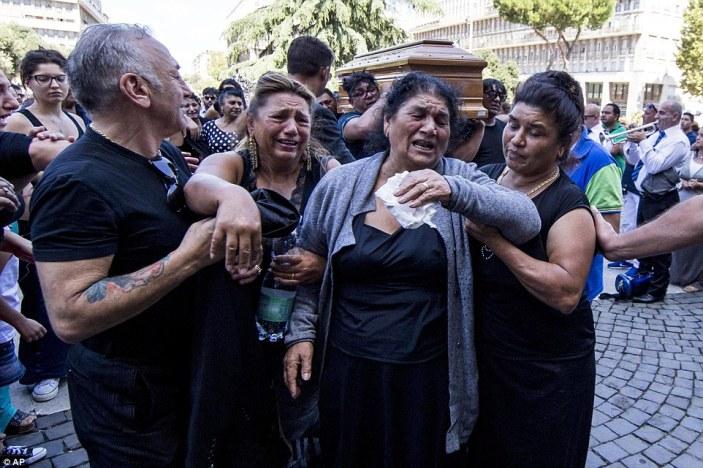 grief stricken at Casamonica's death