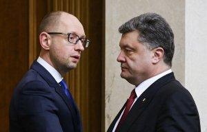 Yatsenyuk and Poroshenko