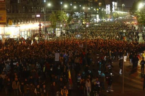 Romanian Protestors